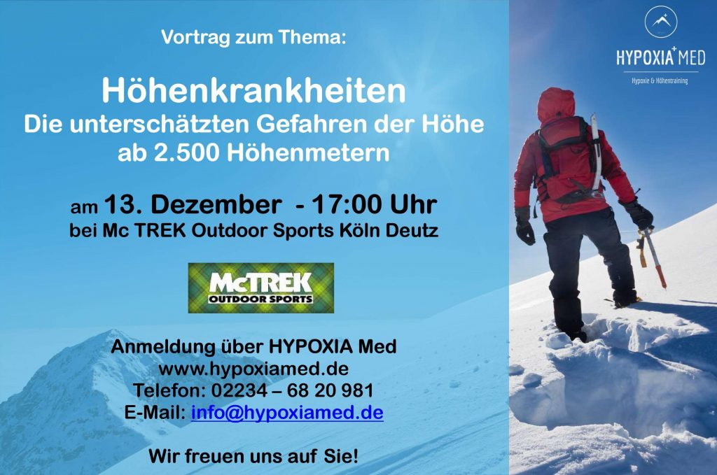 NEU Poster Vortrag McTrek - HYPOXIA Med
